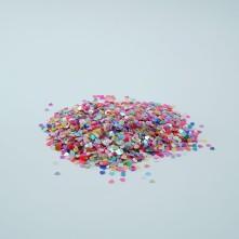 Mini Kalp Renkli Pul Paketi - 5 gram - Epoksi Süsleme Pulu - 5mm