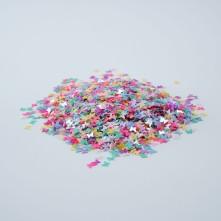 Mini Kelebek Renkli Pul Paketi - 5 gram - Epoksi Süsleme Pulu - 5mm