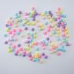 Plastik Oval Köşeli Boncuk - 100 GR - Mix Renk