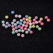 Plastik Düz Yuvarlak Boncuk - 250 GR - Mix Renk