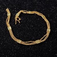 Takı Zinciri - Bileklik ve Kolye - 4.1 mm Gold