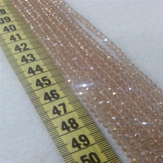 4 mm İpe Dizili Kristal Boncuk çin camı janjan pudra