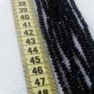 İpe Dizili Kristal Boncuk - 4 mm - Siyah