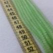 4 mm İpe Dizili Kristal Boncuk Çin Camı Mat Yeşil