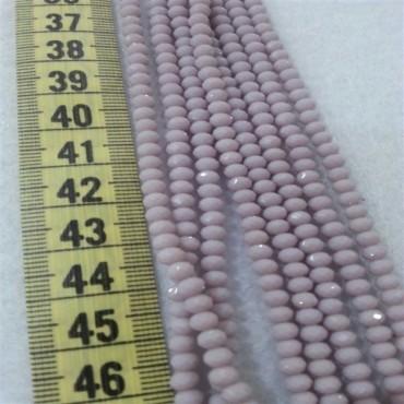 4 mm İpe Dizili Kristal Boncuk Çin Camı Mat Lila