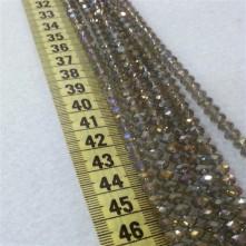 6mm İpe Dizili Kristal Boncuk Çin Camı janjan vizon