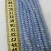 6 mm İpe Dizili Kristal Boncuk Çin Camı mar janjan Sedef mavi