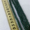 6 mm İpe Dizili Kristal Boncuk Çin Camı  Mat Koyu Yeşil