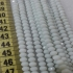 6 mm İpe Dizili Kristal Boncuk Çin Camı Mat Beyaz