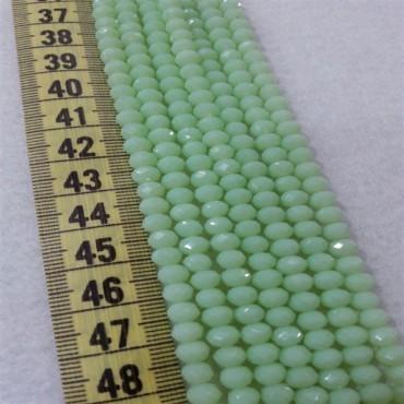 İpe Dizili Kristal Boncuk Çin Camı 6 mm Mat Sedef Yeşili