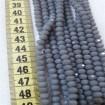 6 mm İpe Dizili Kristal Boncuk Çin Camı Mat Koyu Gri