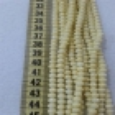 6 mm İpe Dizili Kristal Boncuk Çin Camı Mat açık sarı