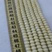 6 mm İpe Dizili Kristal Boncuk Çin Camı mat açık krem