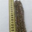 8 mm İpe Dizili Kristal Boncuk Çin Camı janjan vizon