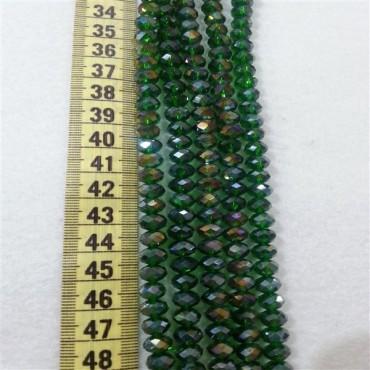 8 mm İpe Dizili Kristal Boncuk Çin Camı janjan zümrüt yeşili