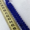8mm - İpe Dizili Kristal Boncuk - Çin Camı - şeffaf koyu saks