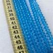 8 mm İpe Dizili Kristal Boncuk Çin Camı şeffaf acık mavi