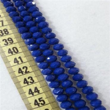 8 mm İpe Dizili Kristal Boncuk Çin Camı mat koyu mavi