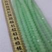 8 mm İpe Dizili Kristal Boncuk Çin Camı Mat Buz Yeşil