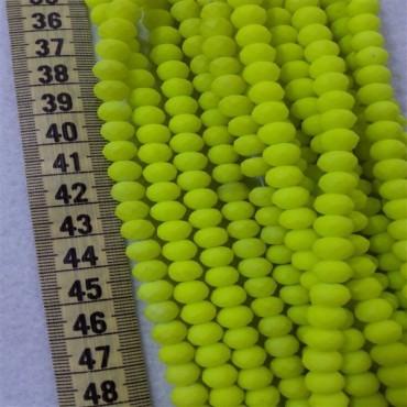 8 mm İpe Dizili Kristal Boncuk Çin Camı neon sarı