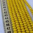 8 mm İpe Dizili Kristal Boncuk Çin Camı Mat Sarı