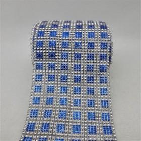 24 Sıra Şerit Kesme Taşlar - Mavi Kareli