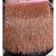 Boncuklu 15 cm  Püskül Saçak Pudra Pembe Somon Arası