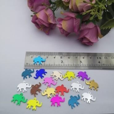 Pleksi Renkli Oyalık ve Takı Bujiteri Pulları Mix Renk  8x16mm M 358 -50gr