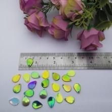 Pleksi Renkli Oyalık ve Takı Bujiteri Pulları  MiX RenK 8x10mm M 329 -50gr