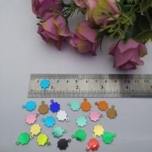 Pleksi Renkli Oyalık ve Takı Bujiteri Pulları  Mix Renk12x14mm M 319 -50gr