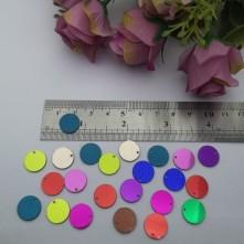 Pleksi Renkli Oyalık ve Takı Bujiteri Pulları  Mix Renk10mm M 214 -50gr