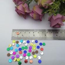 Pleksi Renkli Oyalık ve Takı Bujiteri Pulları  6mm M 207 -50gr