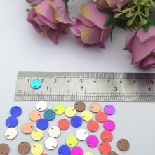 Pleksi Renkli Oyalık ve Takı Bujiteri Pulları  Mix Renk12mm M 219 -50gr