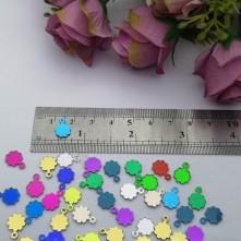 Pleksi Renkli Oyalık ve Takı Bujiteri Pulları Mix Renk 8x10mm M322 -50gr