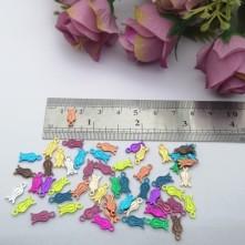 Pleksi Renkli Oyalık ve Takı Bujiteri Pulları Mix Renk 5x10mm M237 -50gr
