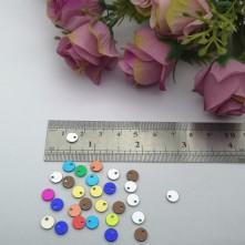 Pleksi Renkli Oyalık ve Takı Bujiteri Pulları  Mix Renk 6mm M 207 -50gr