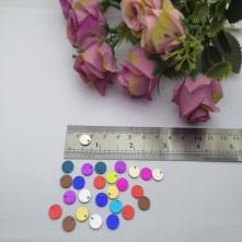 Pleksi Renkli Oyalık ve Takı Bujiteri Pulları Mix Renk 8mm M 211 -50gr