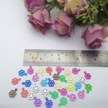 Pleksi Renkli Oyalık ve Takı Bujiteri Pulları  MixRenk 8x12mm M 267 -50gr