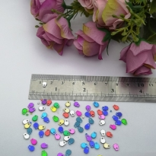 Pleksi Renkli Oyalık ve Takı Bujiteri Pulları Mix Renk 4x5mm M 266 -50gr
