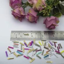 Pleksi Renkli Oyalık ve Takı Bujiteri Pulları Mix Renk 2x12mm M 325 -50gr
