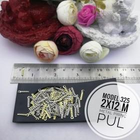Metal Pirinç Pul - Model 325 (2x12 mm)