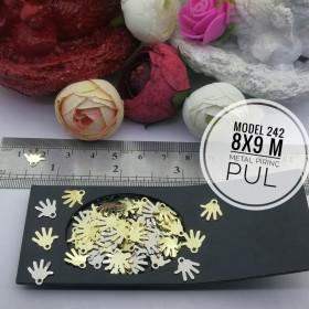 Metal Pirinç Pul - Model 242 (8x9 mm)
