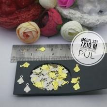 Metal Pirinç Pul - Model 231 (7x10 mm)