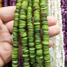 Doğal Sedef Pul Taş - Yeşil