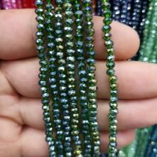 4 mm ipe dizili kristal boncuk çin camı janjan hürrem yeşili