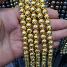 Hematit Lav Boncuk pütürlü gold