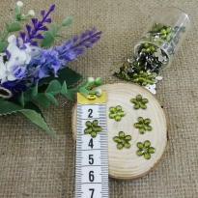 Akrilik Taşlar - Çiçek Model - Yağ Yeşili - 10 Gram