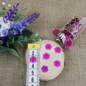 Akrilik Taşlar - Çiçek Model - Mor - 10 Gram