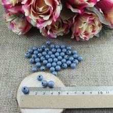Plastik İnci Boncuk - Duman Mavisi