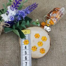Akrilik Taşlar - Çiçek Model - Altın Sarısı - 10 Gram